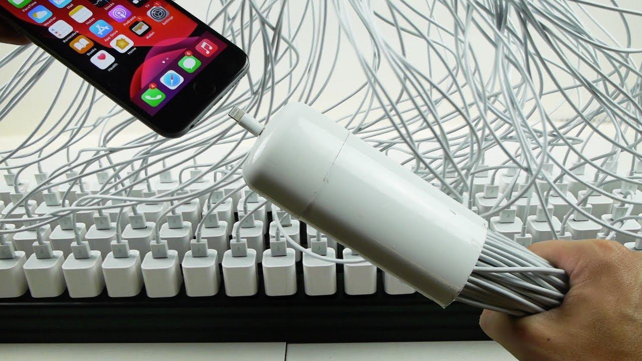 把100个充电器同时插入一个iPhone会怎样?