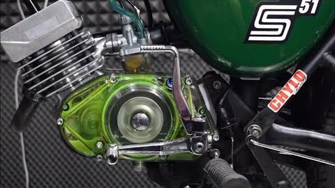 摩托车透明引擎盖看内部如何工作