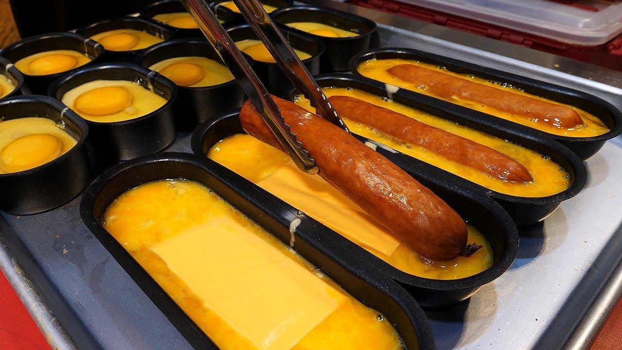 香肠奶酪鸡蛋面包-韩国街边小吃