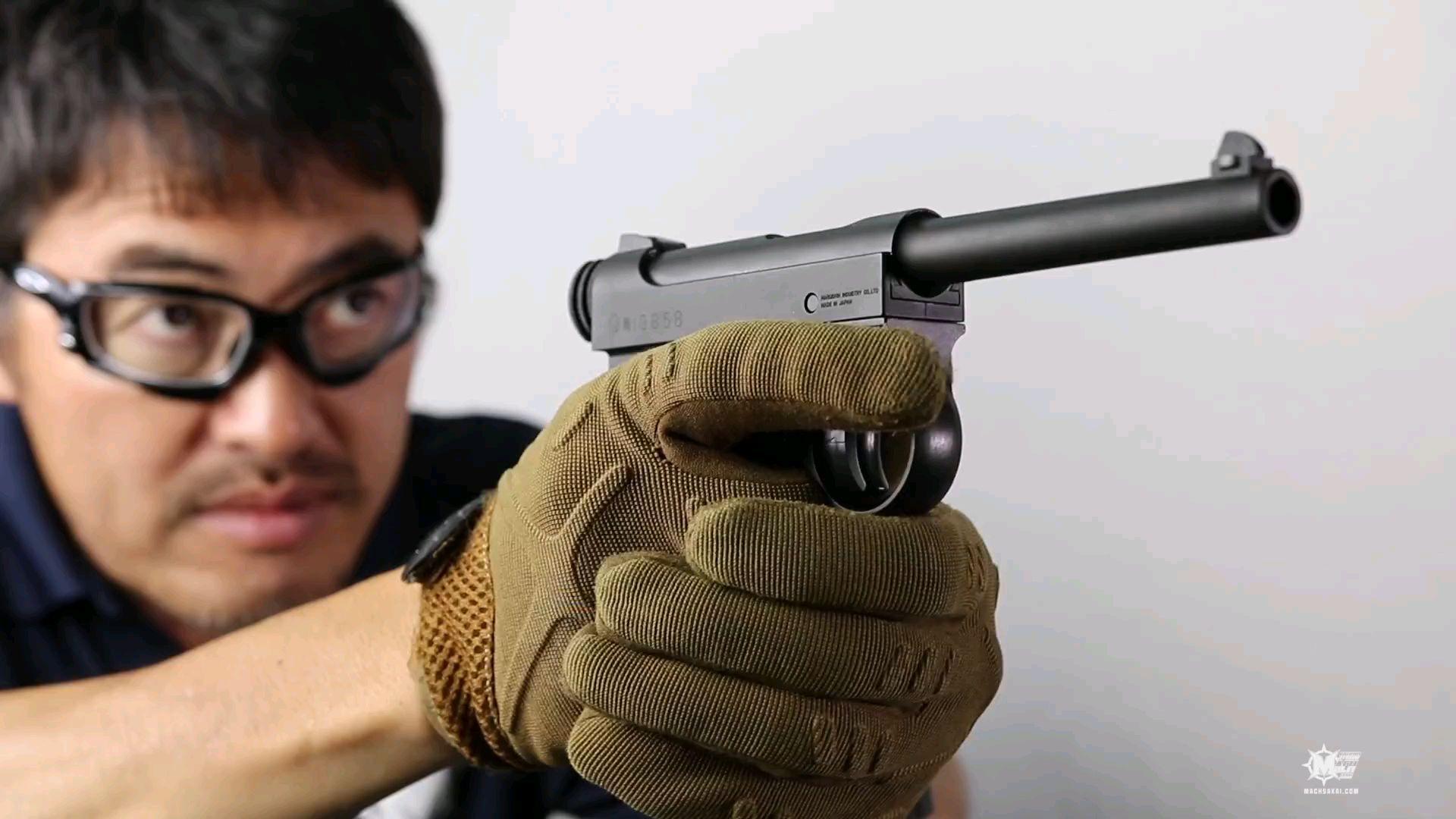 堺叔气枪测评marshin气枪南部14年式前期模型HW
