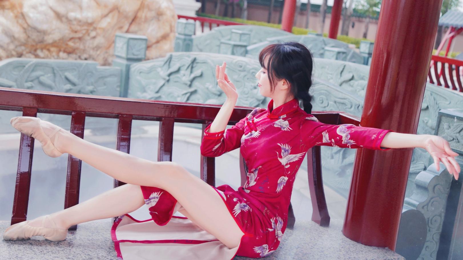 【铃舟】一生独一 原创编舞(生日作) 一身惊艳中国红,一点一滴一情怀   武汉加油!中国必胜!