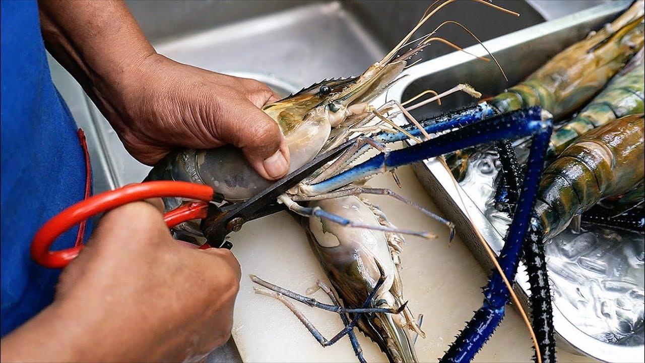 泰国美食 - 大河虾 辣海鲜炖 曼谷 泰国