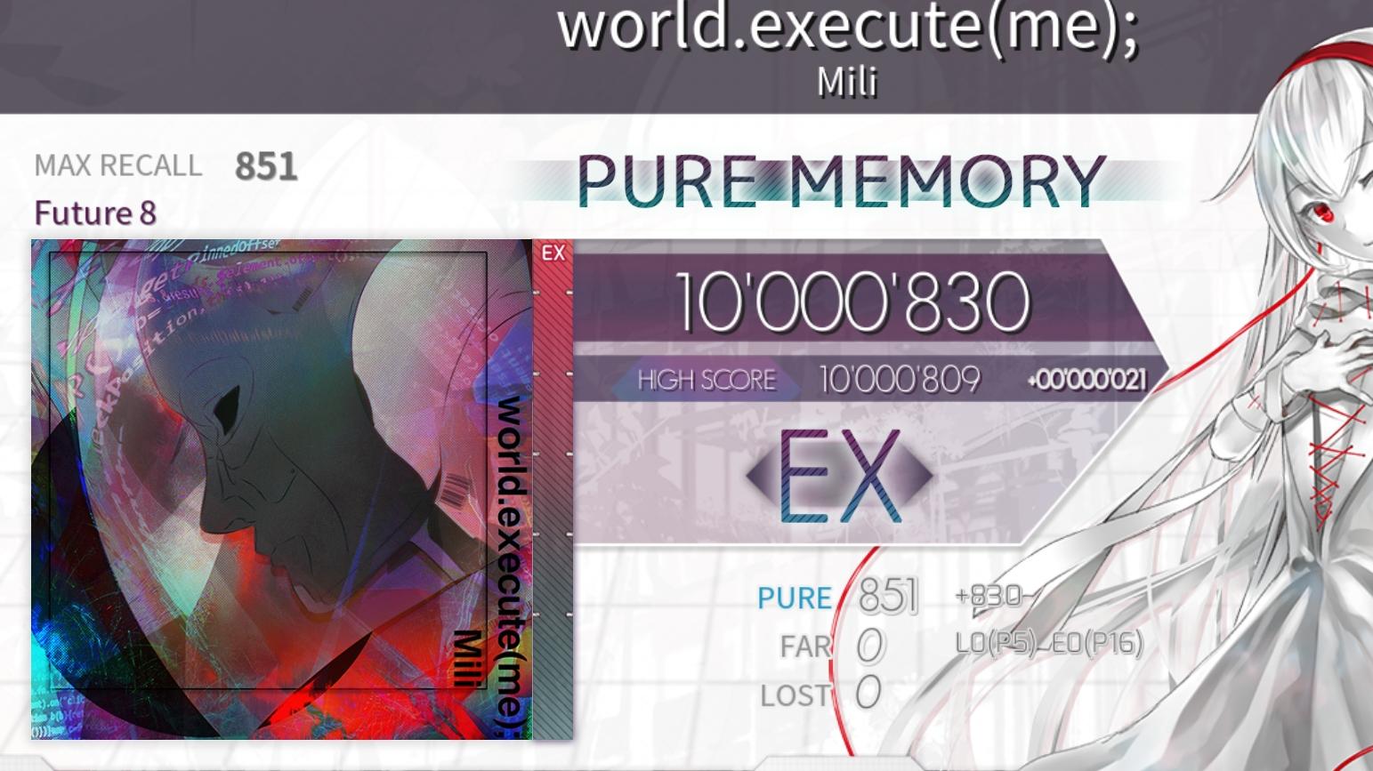【Arcaea】world.execute(me); Ftr8 PM[max-21]
