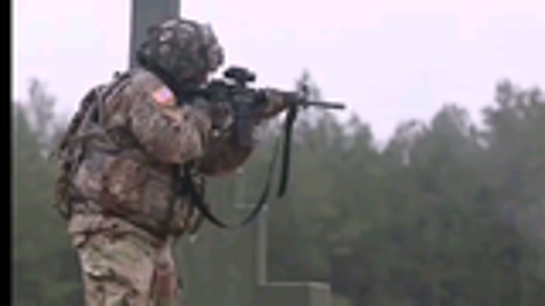 美国陆军M4卡宾枪射击训练
