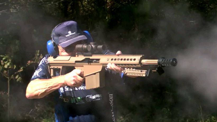 [.50 BMG速射]美国枪神Jerry Miculek 的m107经典射击记录