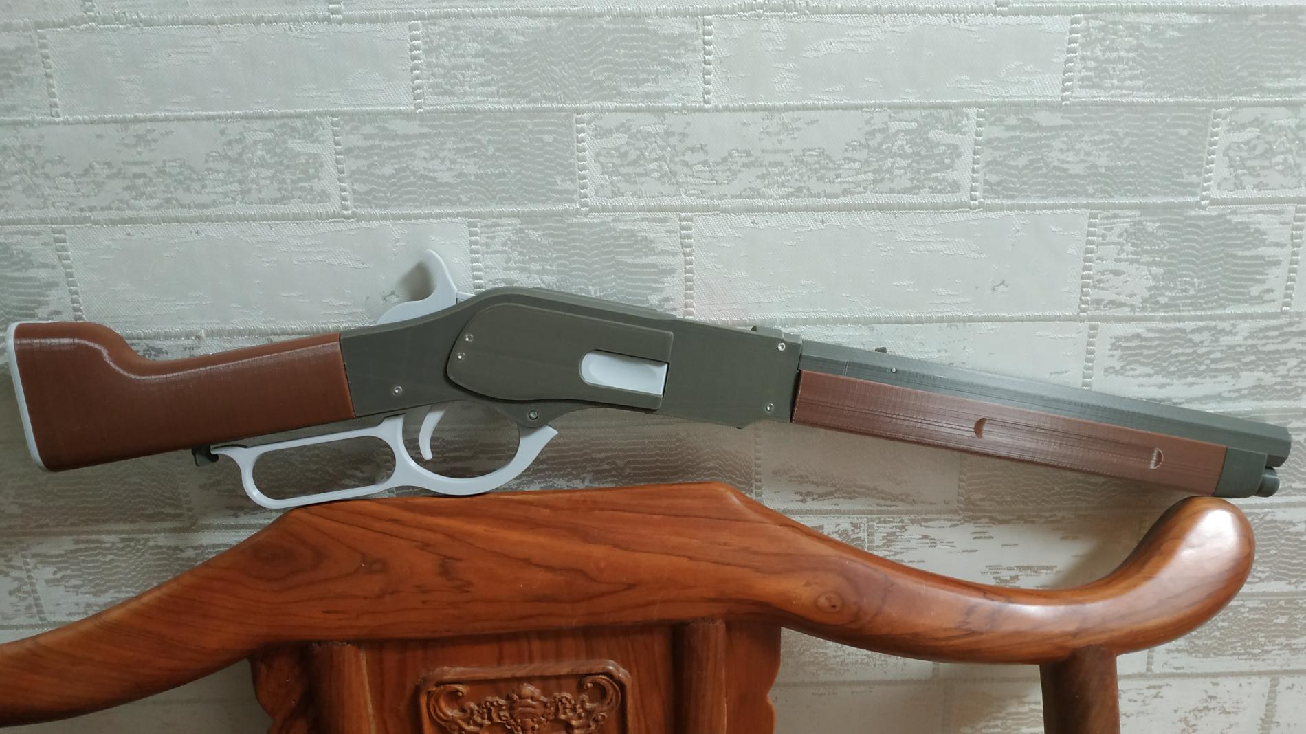 皮筋枪:温彻斯特1873(锯切)抛壳版,测试中.....