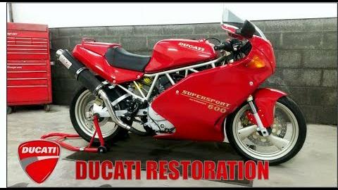 修复翻新一台1995年的杜卡迪600SS(Supersport)-EP5