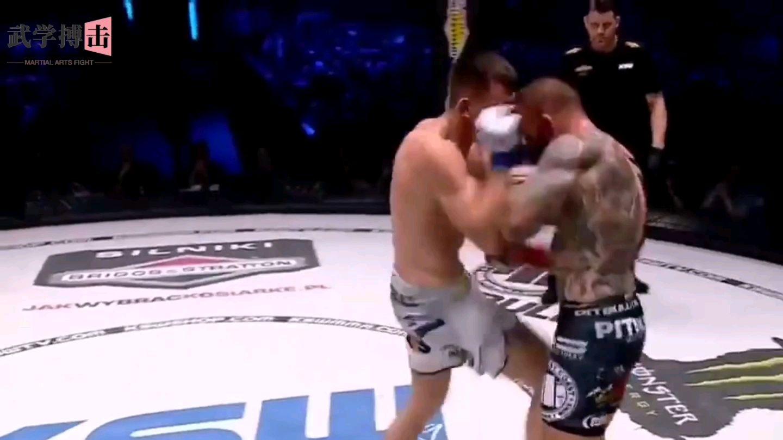 MMA精彩击倒瞬间,第二个最为凶残对手直接被打倒休克