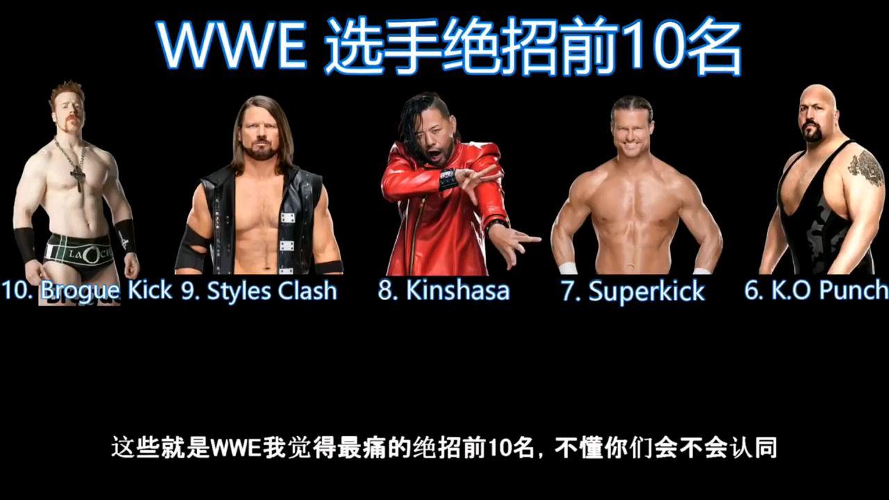WWE个人TOP10终结技