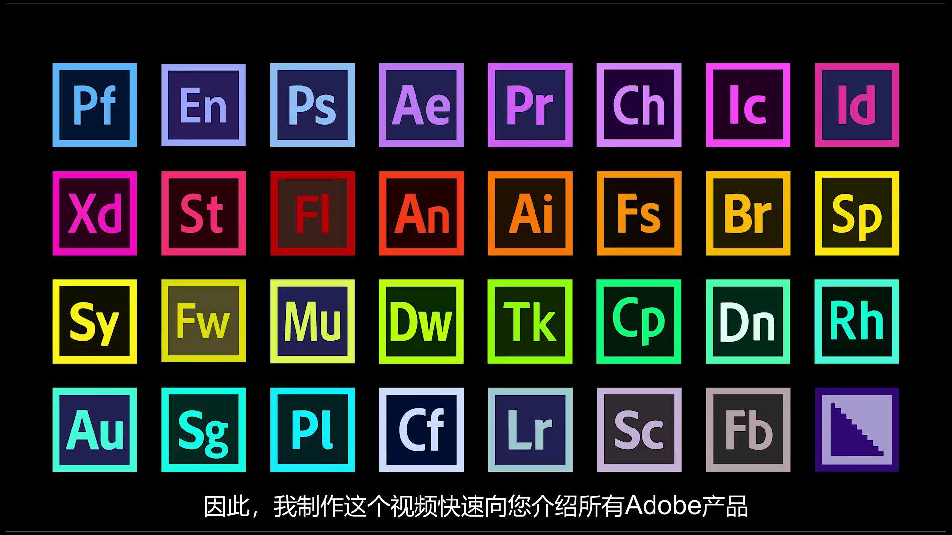 比Adobe官网还细致「50种软件指南「10分钟快速了解Adobe家族!」