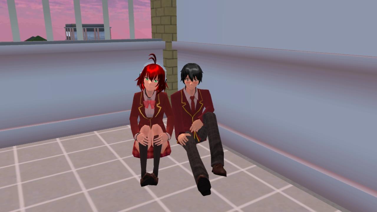 樱花校园模拟器剧情向《雨镇》番外篇——少年和少女(一)