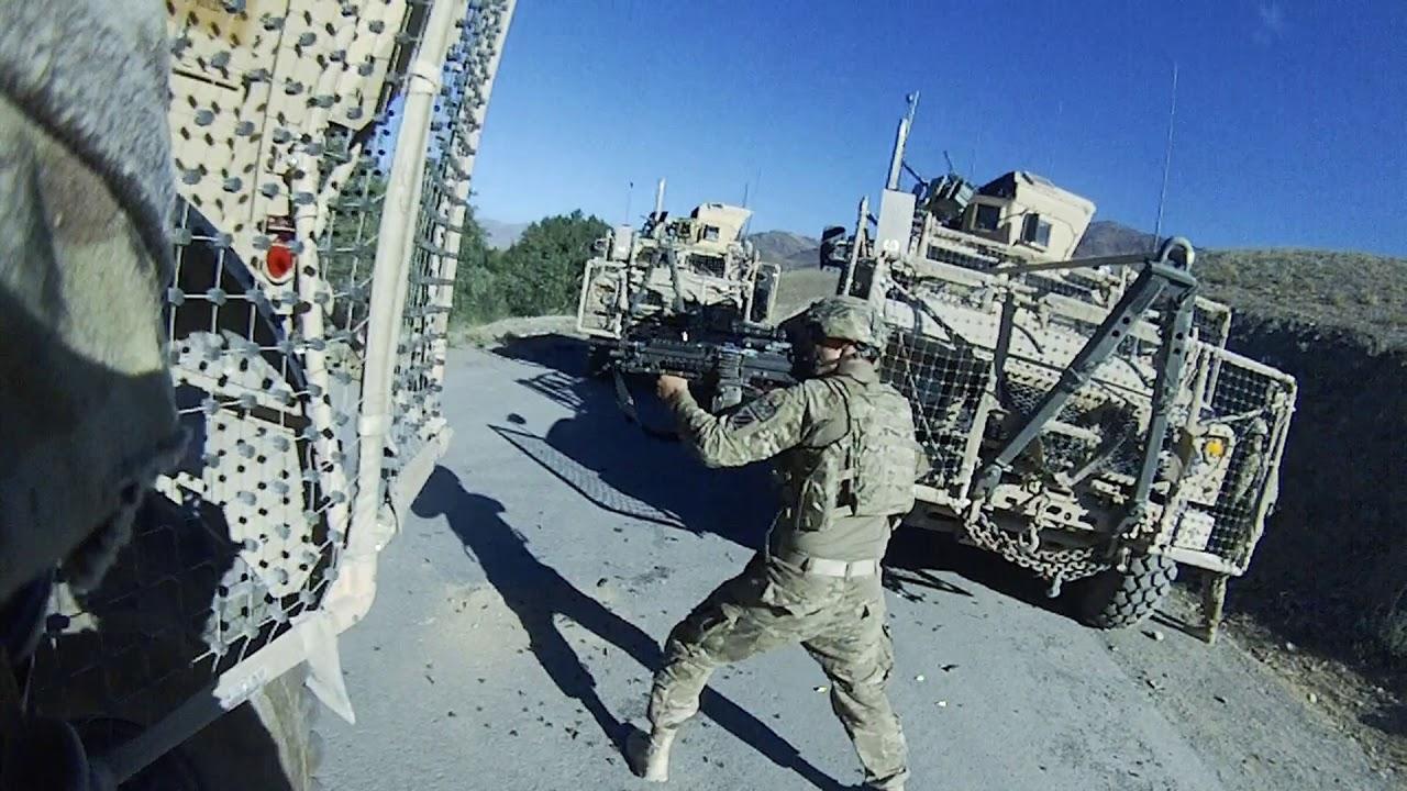 驻阿富汗美军大兵的一天