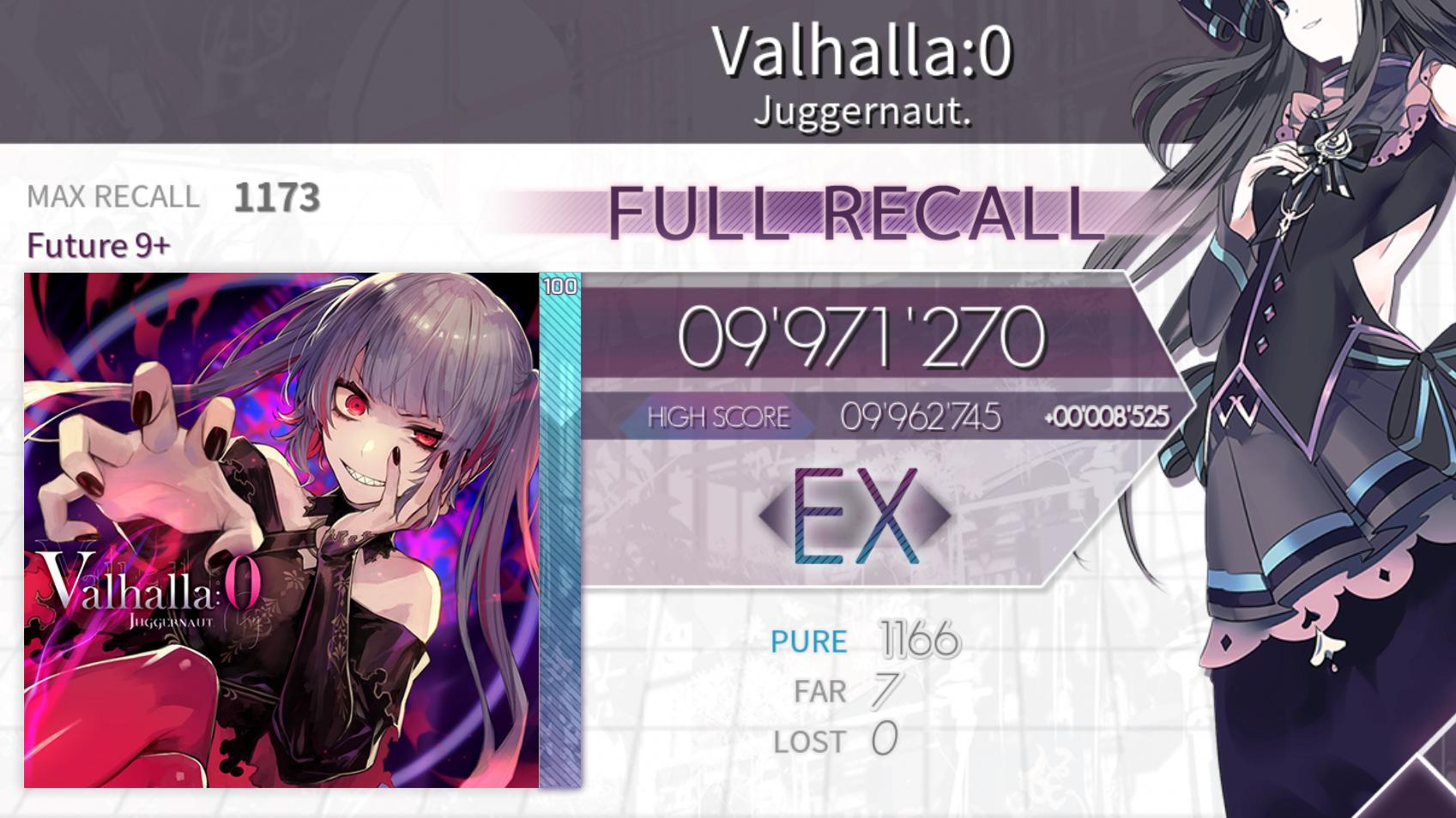 【Arcaea】Valhalla:0 Ftr9+ FR997w菜