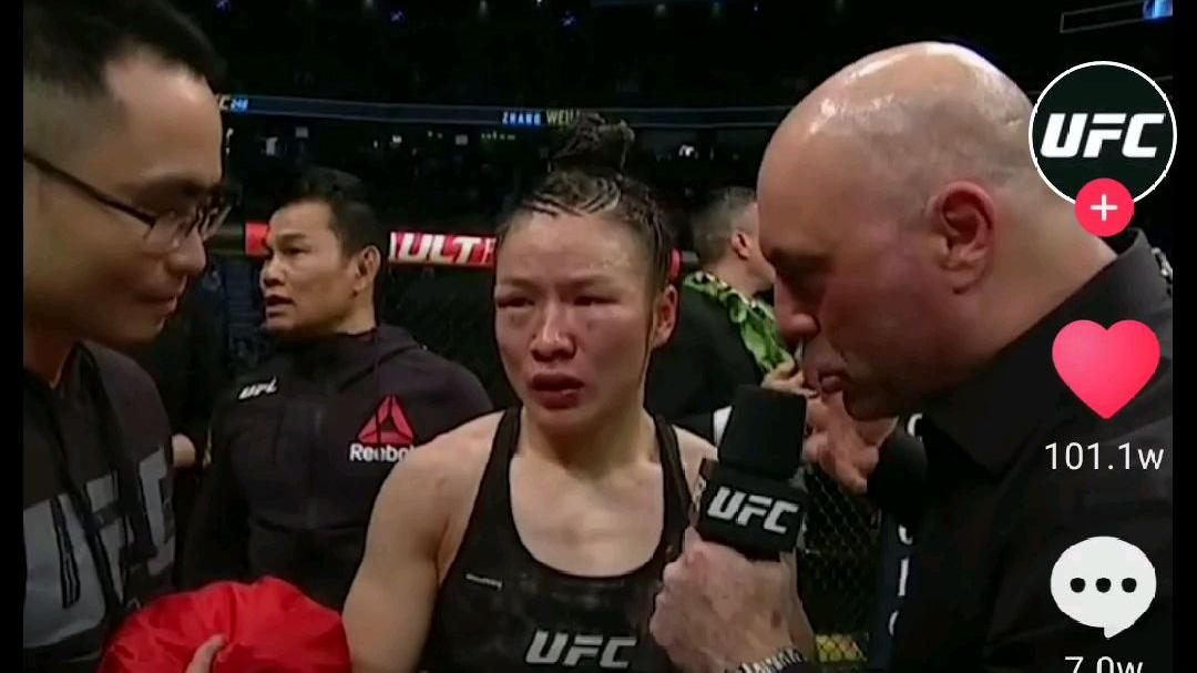 【张伟丽卫冕UFC冠军】赛后采访,展现真正的侠之武者!3.8节为中国争光 fighting!!!