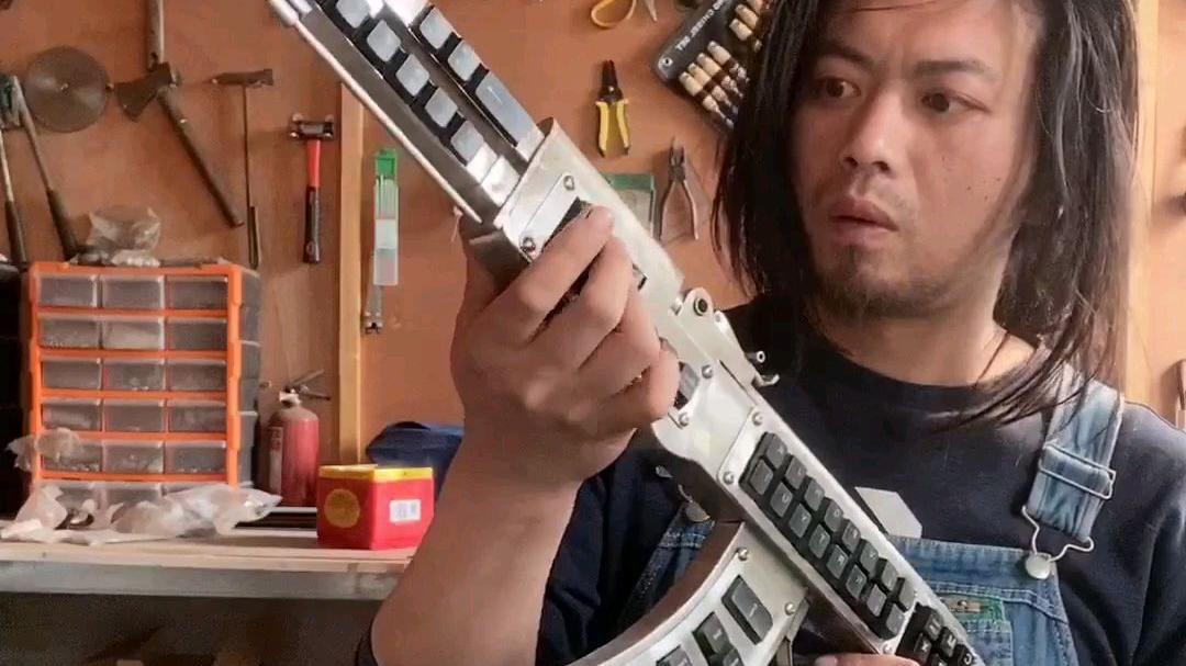 自制不锈钢AK47键盘