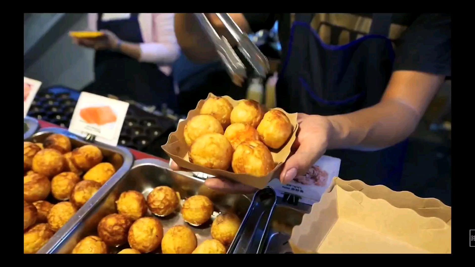 日本路边小吃街头食品-章鱼球
