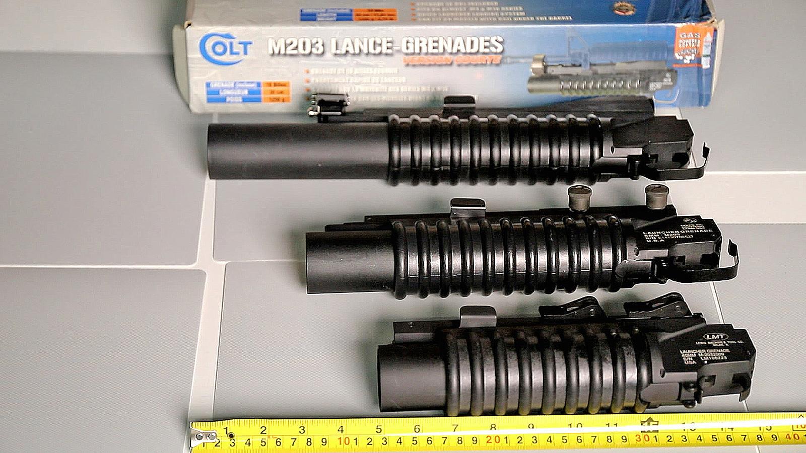 [海外Airsoft] M203 玩具榴弹发射器三种长度一次过