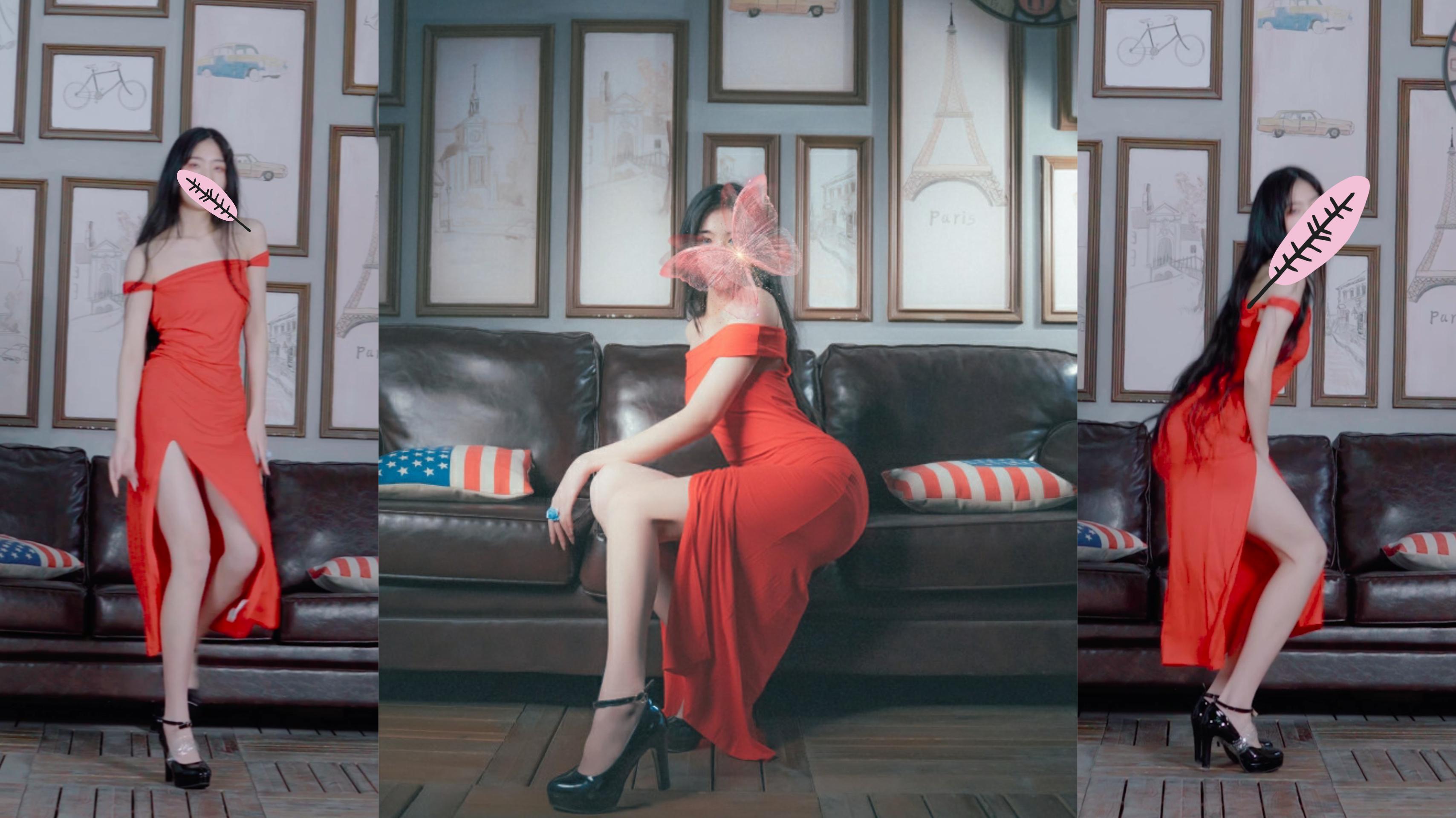 【宫本绘】成人礼✺红裙  。废片