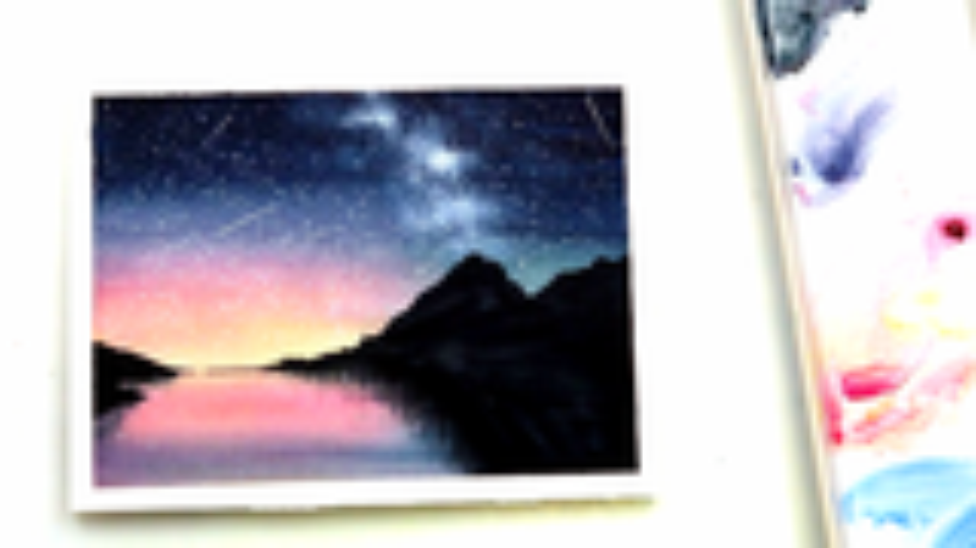 【水彩初学者】教初学者画超简单的星空,又美又飒