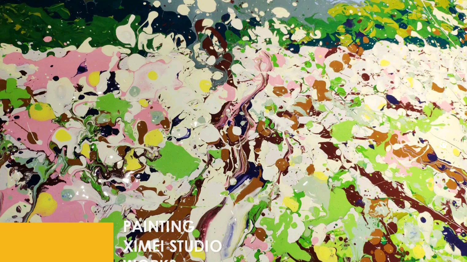 【油画】梨花之国抽象风景创作