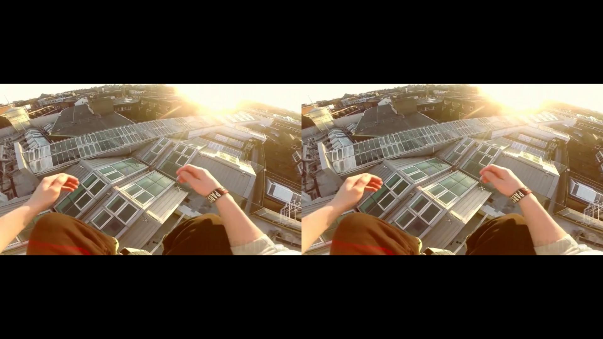 VR双屏第一人称跑酷视频