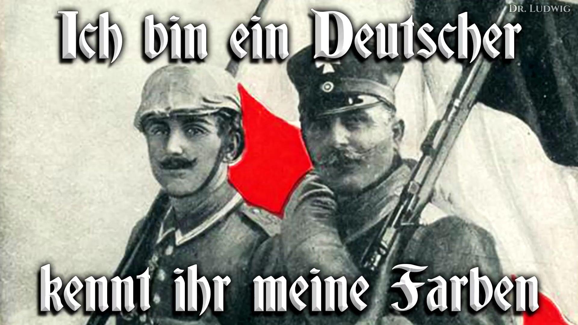 Ich bin ein Deutscher kennt ihr meine Farben
