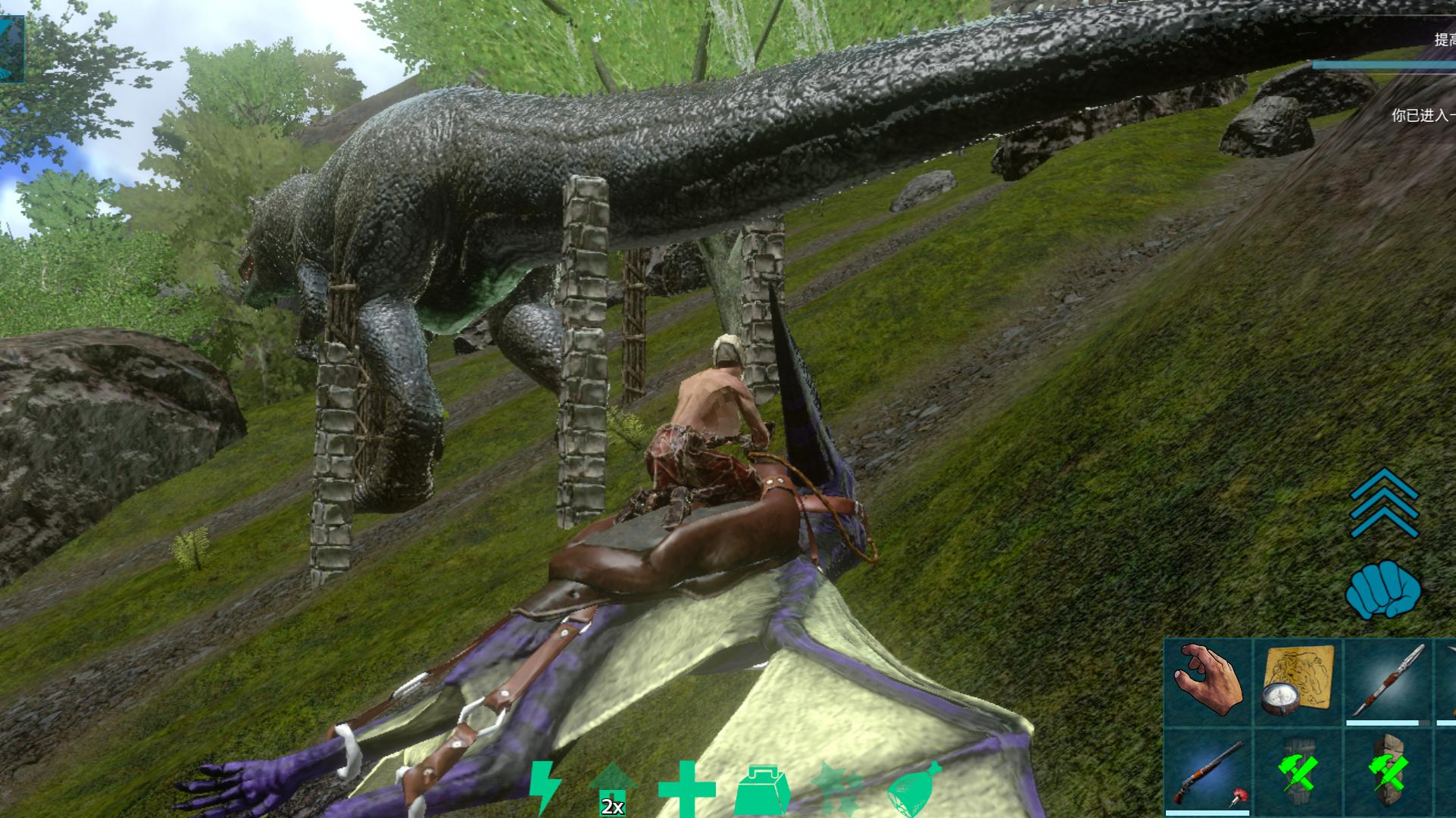手机体验版方舟:进化生存  回来看看我的南方巨兽龙☆ミ(o*・ω・)ノ