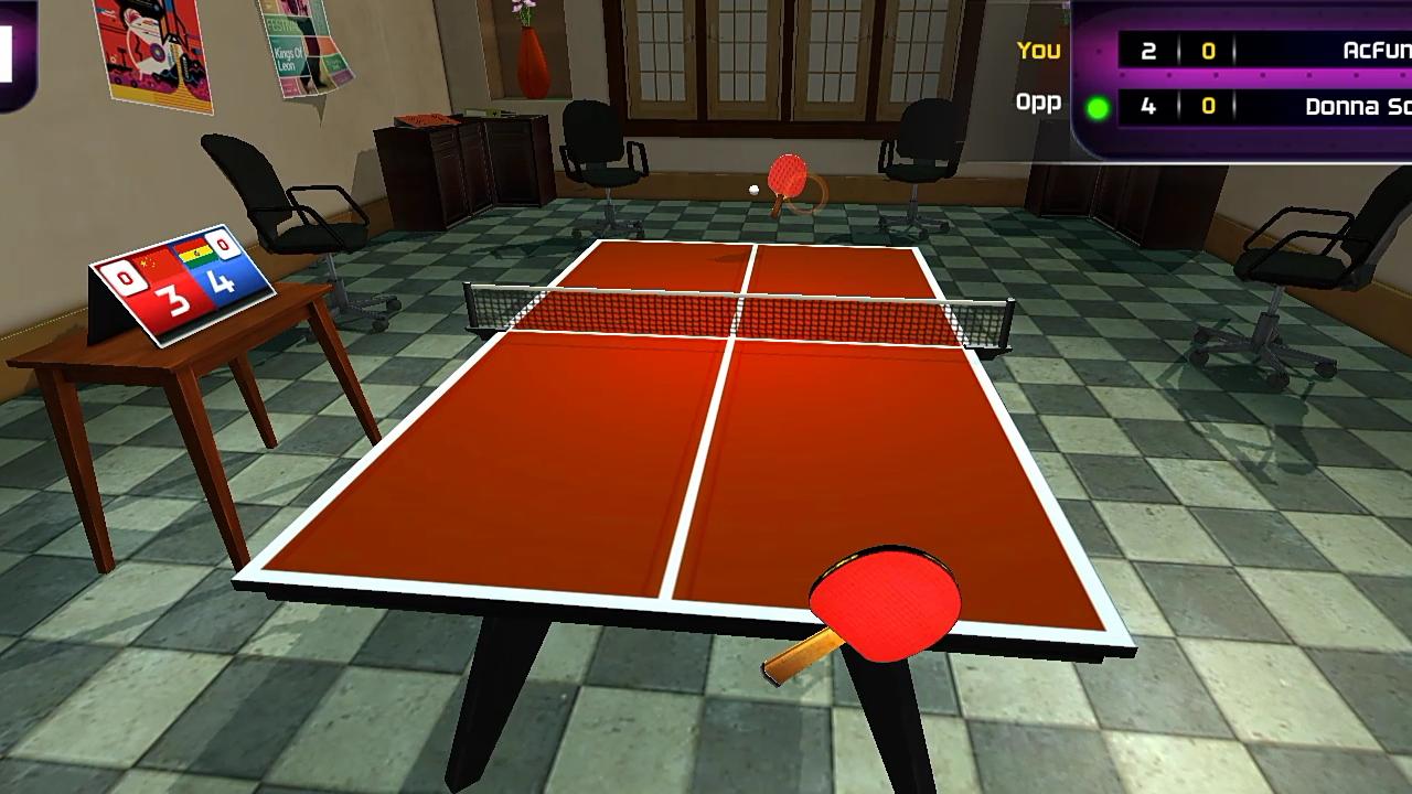 试玩乒乓球手游