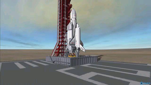 坎巴拉太空计划,暴风雪号航天飞机发射返回模拟,手动降落困难