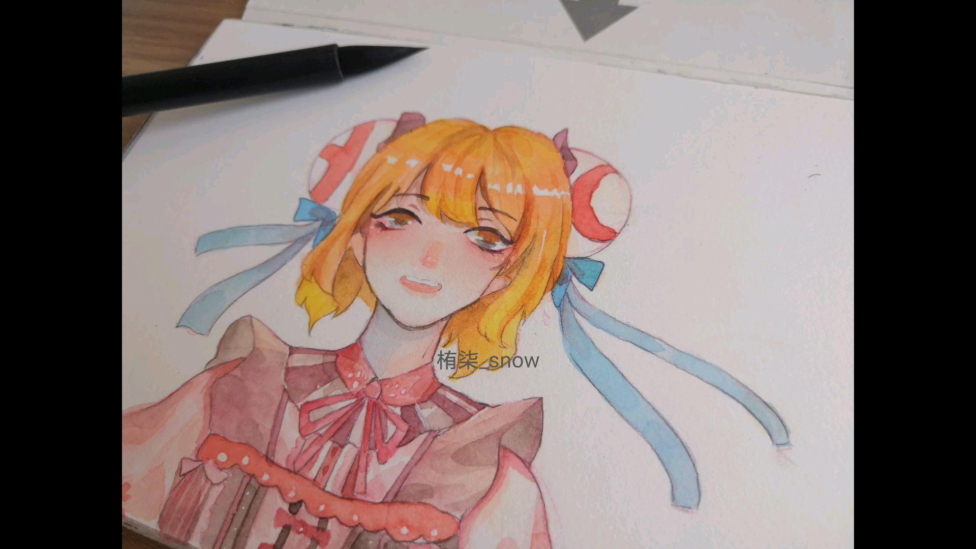 【水彩绘画】给ac娘穿上可爱的小裙子!