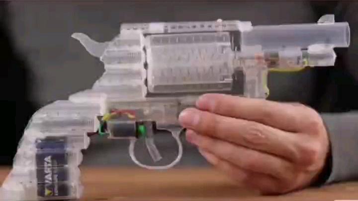 针筒自制透明探索版左轮玩具枪