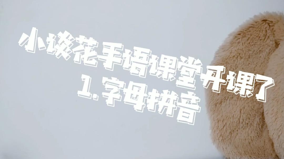 【谈花】手语学习 1.字母拼音 和朋友用手语沟通吧!