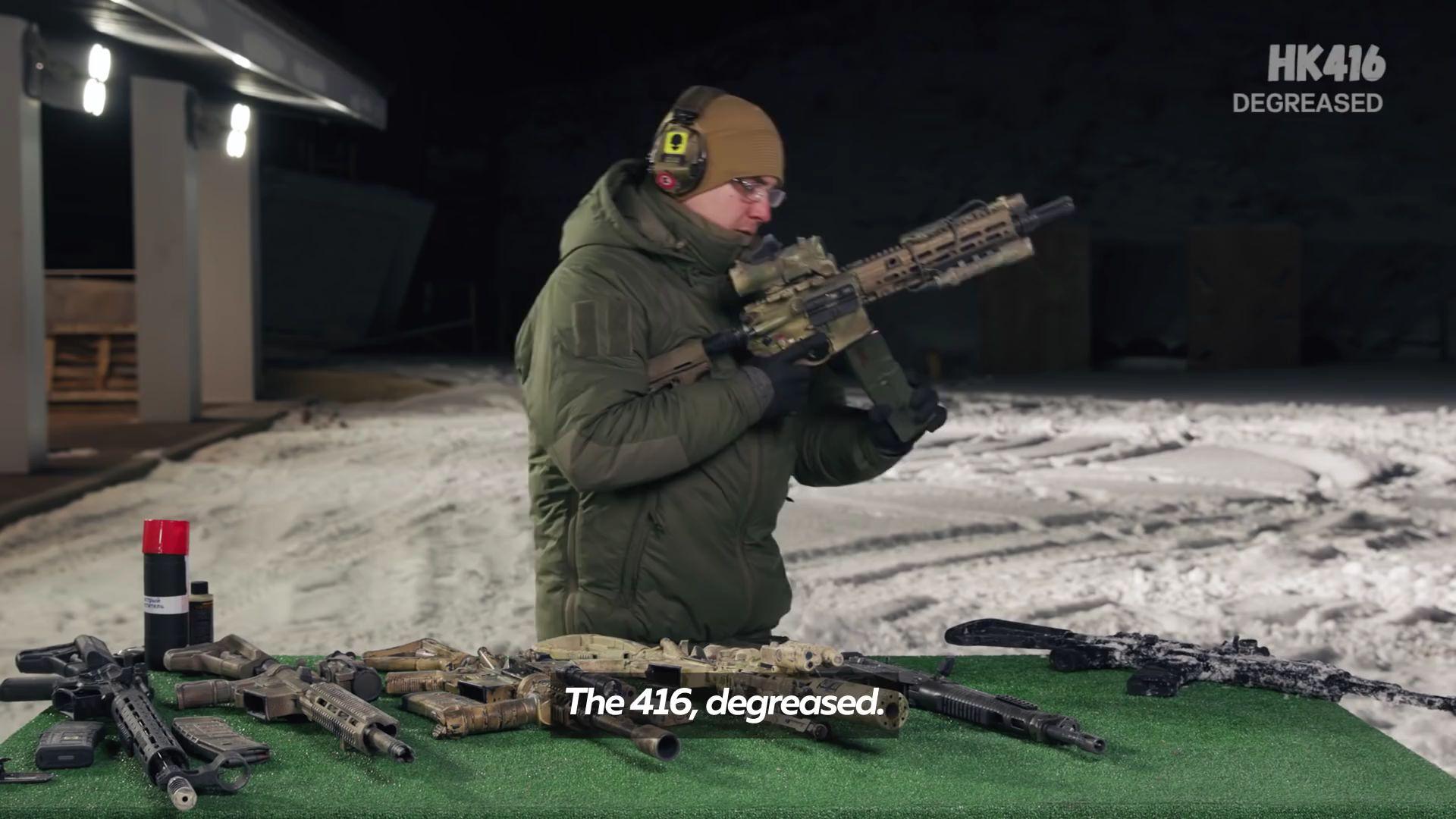 不同武器平台抗冰冻测试(AK、AR、HK)