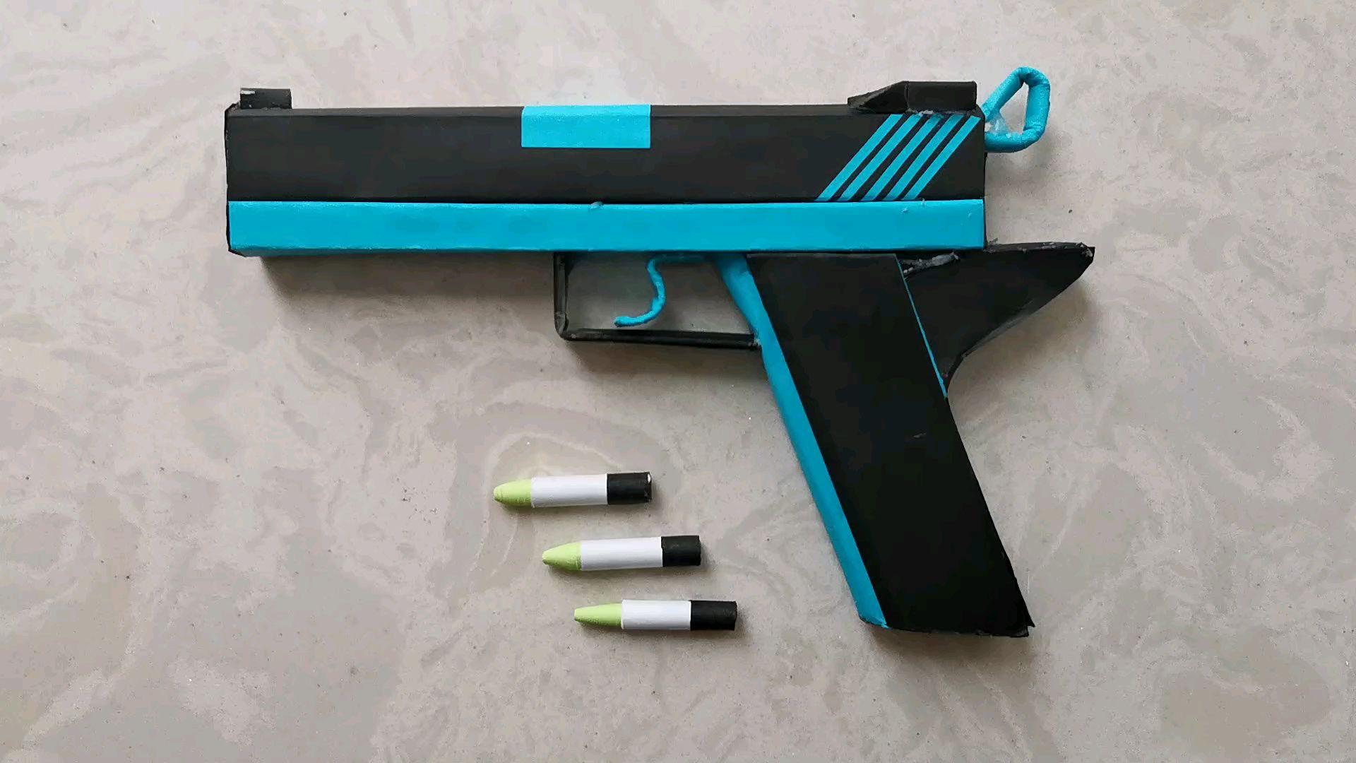 【让子弹飞】枪在手,跟我走,教你用A4纸做把枪