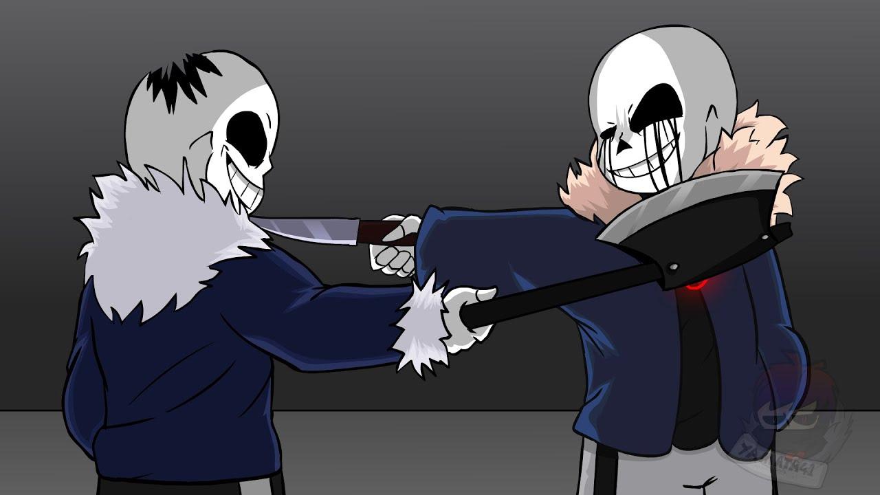 【Undertale动画】Horror sans VS Killer sans EP1