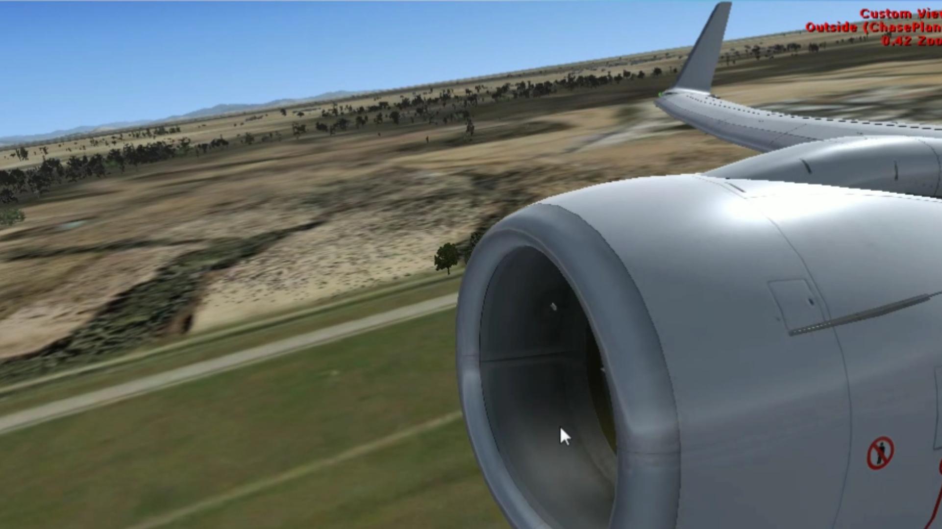 微软模拟飞行X---波音737起飞视频