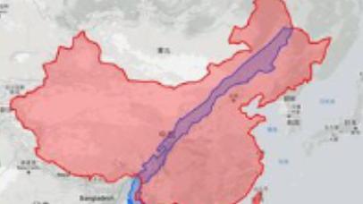 假如智利是中国的一个省,在地图长有多长?