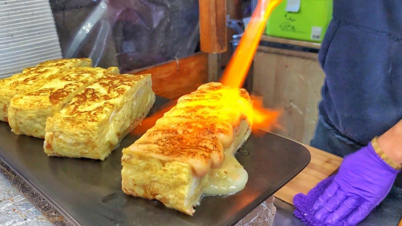 火烤厚蛋烧玉子烧-台湾街头美食一中街美食台中小吃台中美食