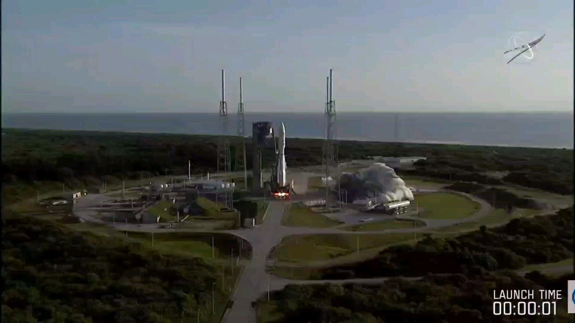 搭载NASA火星探测车毅力号发射全过程