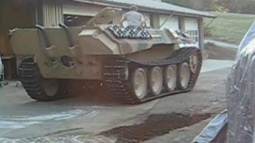 黑豹坦克第一次开动