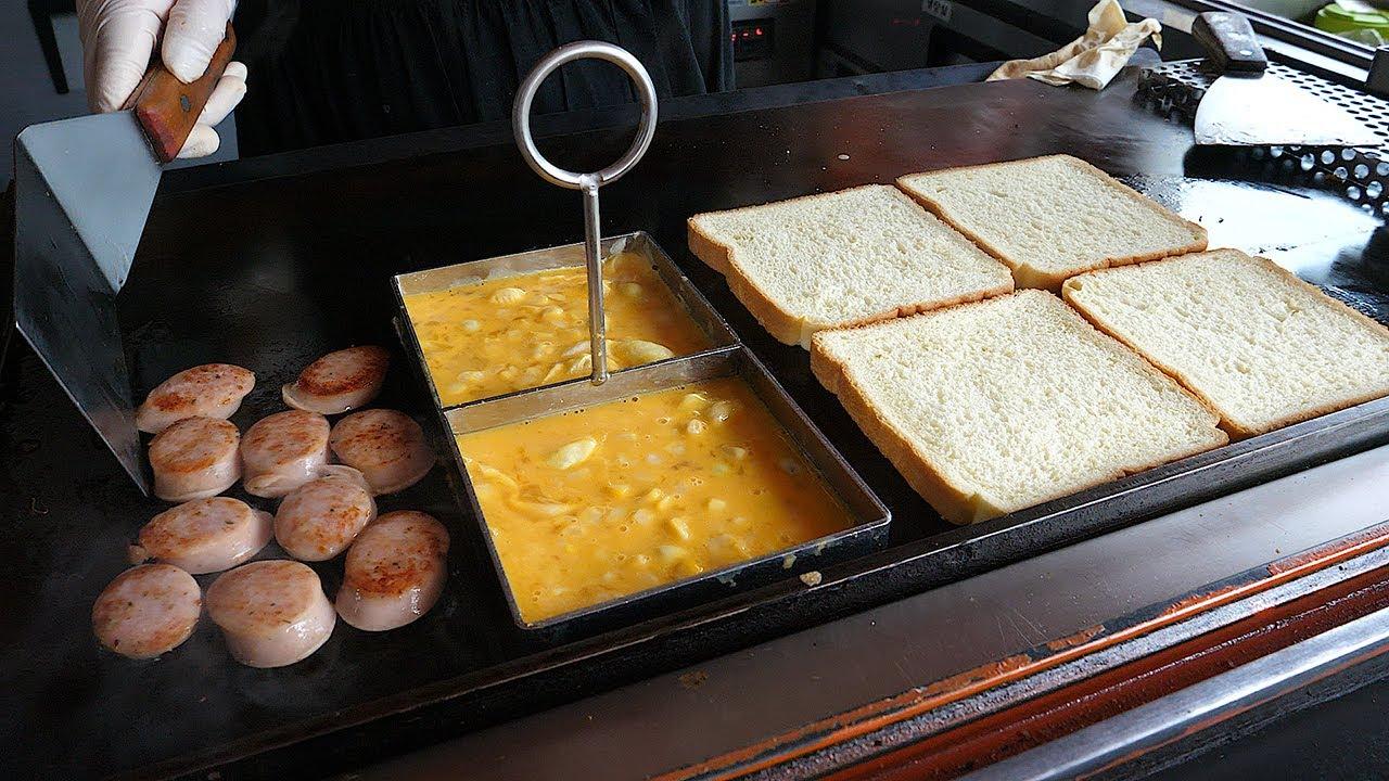 香肠奶酪鸡蛋吐司-韩国街边小吃