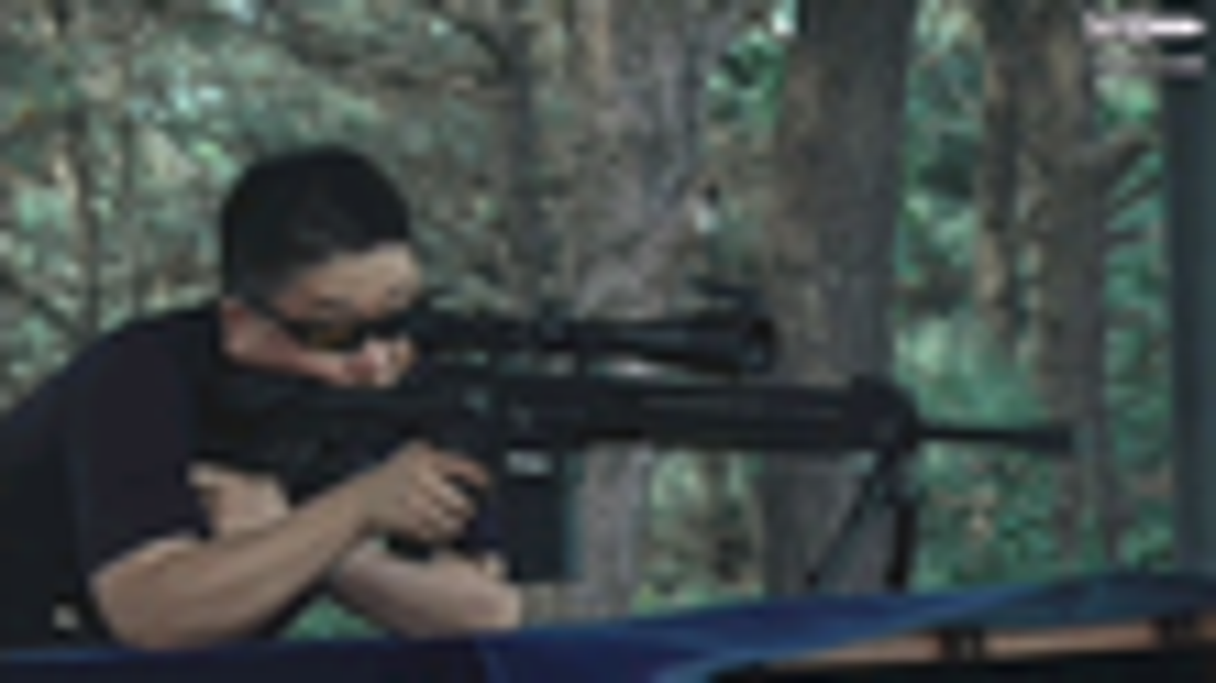 韩国陆军自研精确射手步枪DSSR-762