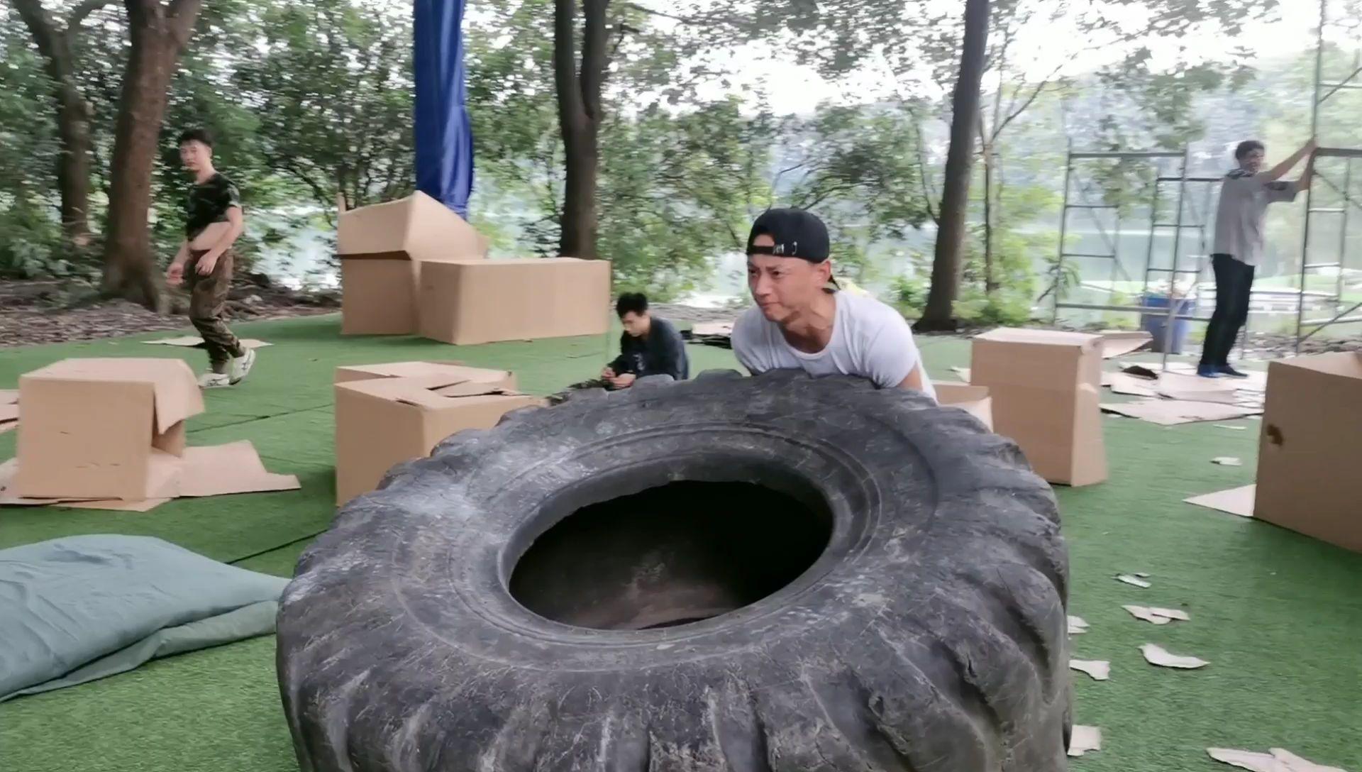 这轮胎真的有点重