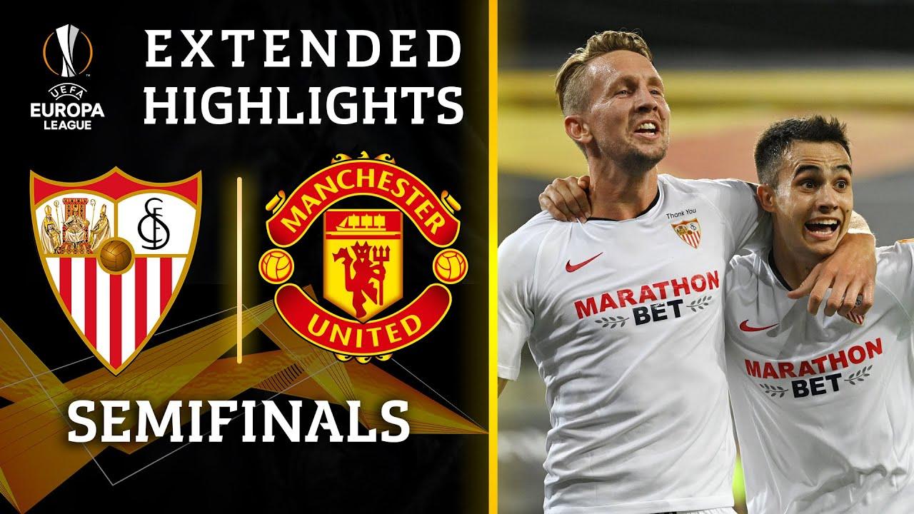 欧联杯半决赛 塞维利亚2:1曼联 全场集锦