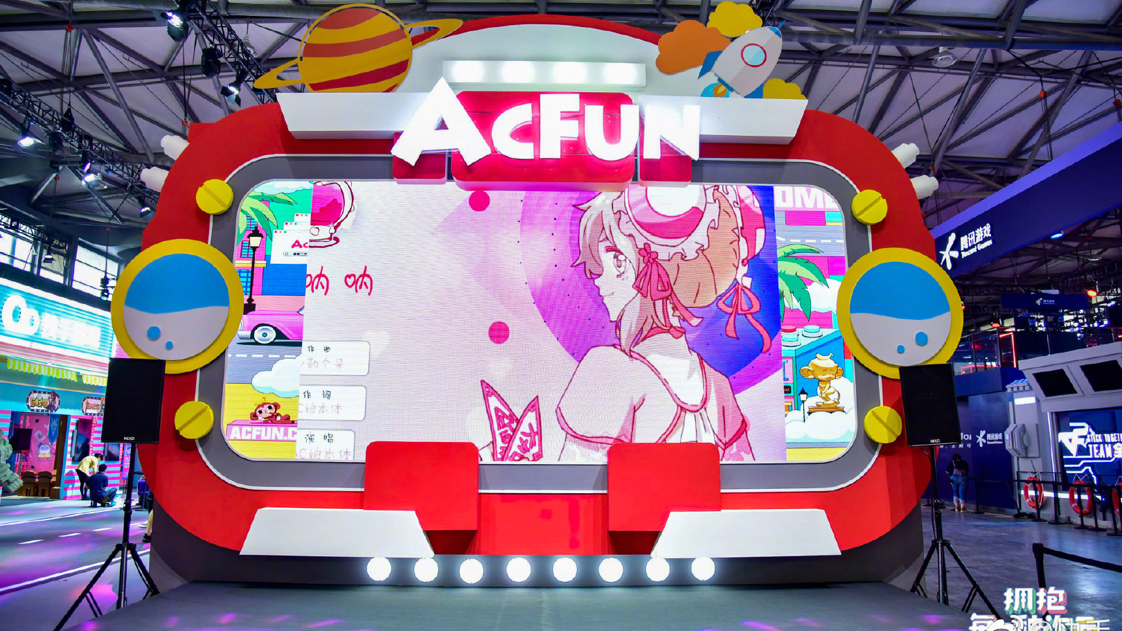 【CJ ACFUN现场】8月2日 A站主舞台 哎呦伦仔 阿呆 未南表演环节录屏