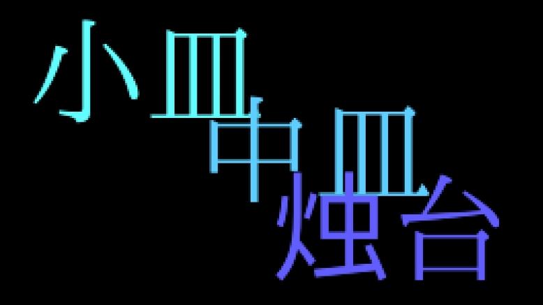 新手入坑必学招式之【小/中皿&烛台】