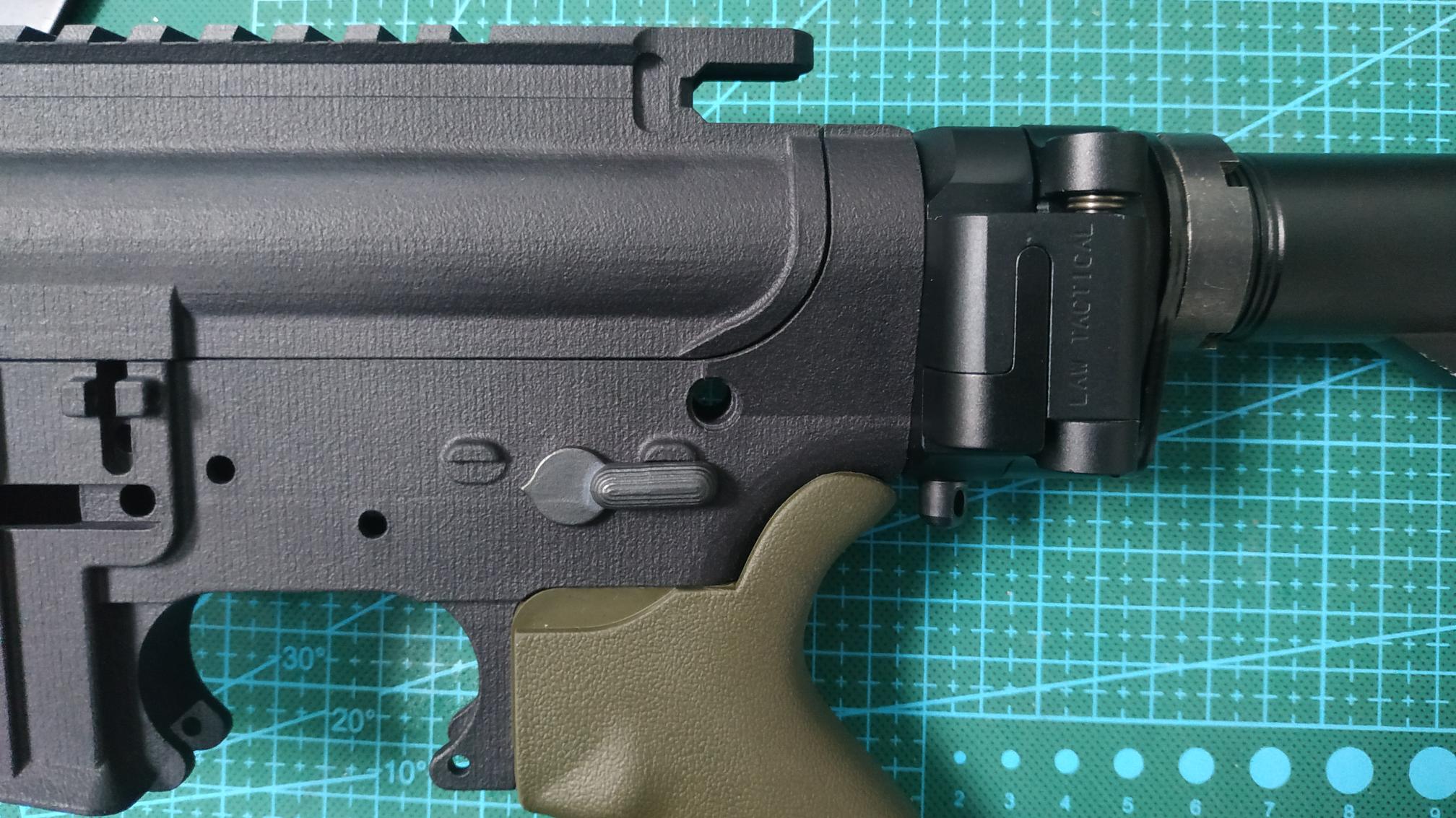 3D打印尼龙M4模型改折叠托——不可发射模型