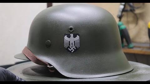 修复生锈的德国M42头盔