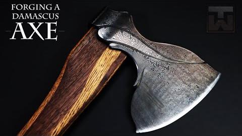 打造一把大马士革斧头