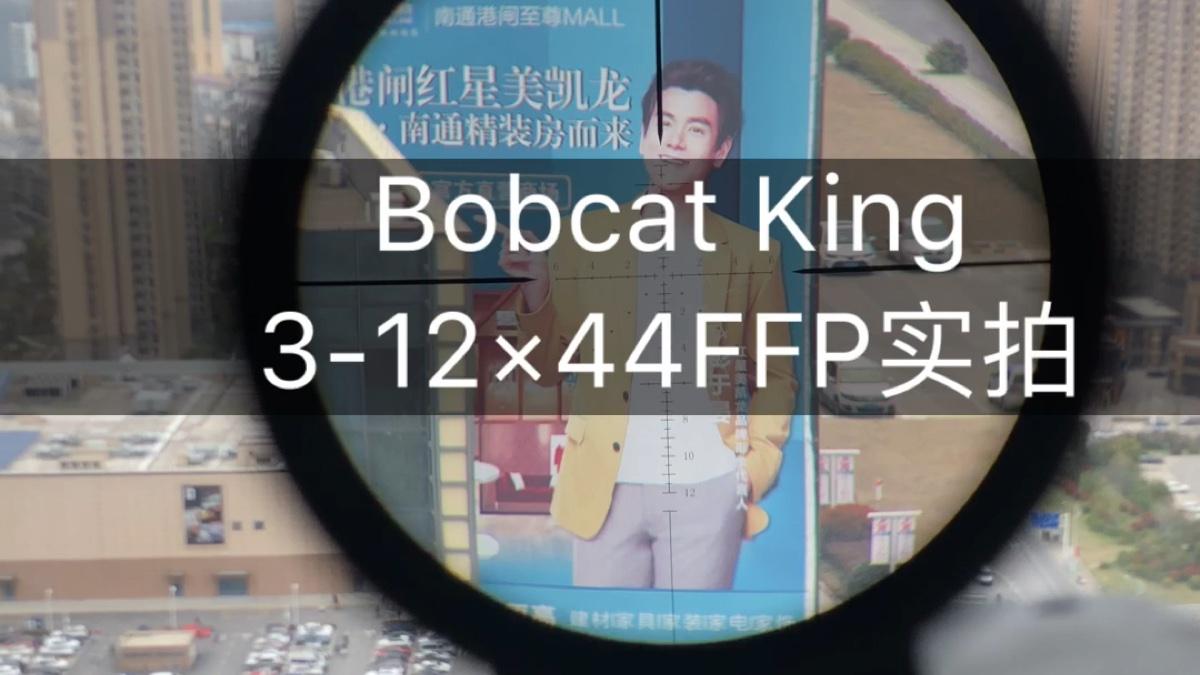 Bobcat King3-12×44FFP短款前置瞄准镜超500米距离8倍效果